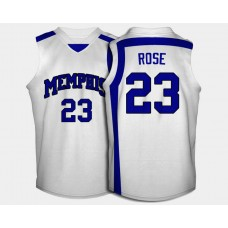 Memphis Tigers #23 Derrick Rose White Home College Basketball Jersey