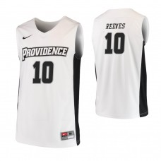 Providence Friars #10 A.J. Reeves Replica White Jersey