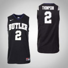 Butler Bulldogs #2 Aaron Thompson Black College Basketball Jersey