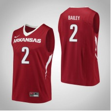 Arkansas Razorbacks #2 Adrio Bailey Red College Basketball Jersey