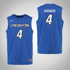 Creighton Bluejays #4 Aimee Rischard Royal College Basketball Jersey