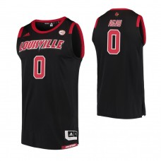 Louisville Cardinals #0 Akoy Agau Replica Black Jersey
