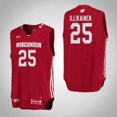 Wisconsin Badgers #25 Alex Illikainen Red College Basketball Jersey