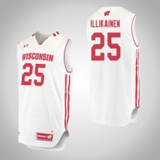 Wisconsin Badgers #25 Alex Illikainen White College Basketball Jersey