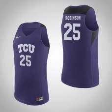 TCU Horned Frogs #25 Alex Robinson Purple College Basketball Jersey
