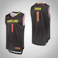 Maryland Terrapins #1 Anthony Cowan Black College Basketball Jersey
