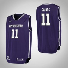 Northwestern Wildcats #11 Anthony Gaines Purple College Basketball Jersey