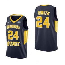 Murray State Racers #24 Anthony Smith Navy College Basketball Jersey