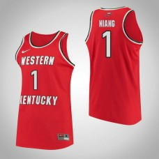 Western Kentucky #1 Arame Niang Red College Basketball Jersey