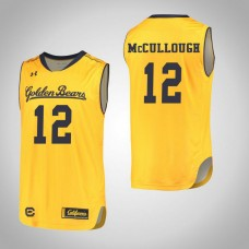 California Golden Bears #12 Austin McCullough Gold College Basketball Jersey