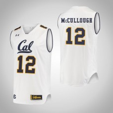 California Golden Bears #12 Austin McCullough White College Basketball Jersey