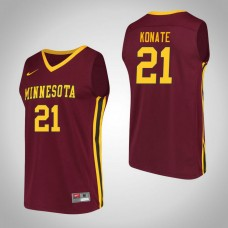 Minnesota Golden Gophers #21 Bakary Konate Maroon College Basketball Jersey
