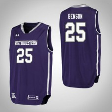 Northwestern Wildcats #25 Barret Benson Purple College Basketball Jersey