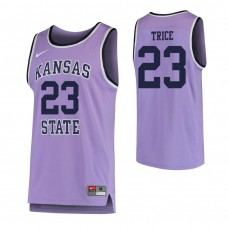 Kansas State Wildcats #23 Austin Trice Replica Purple Jersey