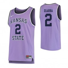Kansas State Wildcats #2 Cartier Diarra Replica Purple Jersey