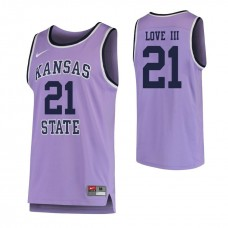 Kansas State Wildcats #21 James Love III Replica Purple Jersey