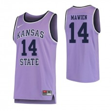 Kansas State Wildcats #14 Makol Mawien Replica Purple Jersey