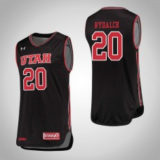 Utah Utes #20 Beau Rydalch Black College Basketball Jersey