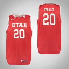 Utah Utes #20 Beau Rydalch Red College Basketball Jersey