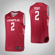 Temple Owls #2 Breanna Perry Red College Basketball Jersey