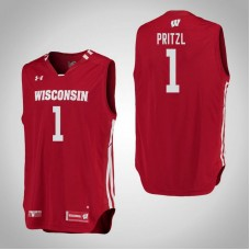Wisconsin Badgers #1 Brevin Pritzl Red College Basketball Jersey