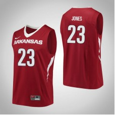 Arkansas Razorbacks #23 C.J. Jones Red College Basketball Jersey