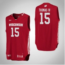 Wisconsin Badgers #15 Charles Thomas IV Red College Basketball Jersey