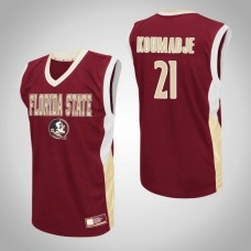 Florida State Seminoles #21 Christ Koumadje Red College Basketball Jersey