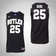 Butler Bulldogs #25 Christian David Black College Basketball Jersey