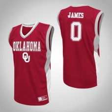Oklahoma Sooners #0 Christian James Red College Basketball Jersey