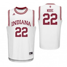 Indiana Hoosiers #22 Clifton Moore White College Basketball Jersey