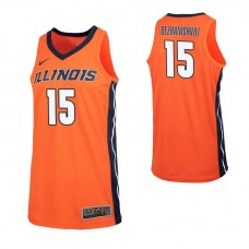 Illinois Fighting Illini #15 Giorgi Bezhanishvili Replica Orange Jersey