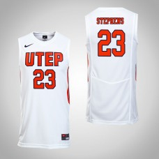 UTEP Miners #23 Corbin Stephens White College Basketball Jersey