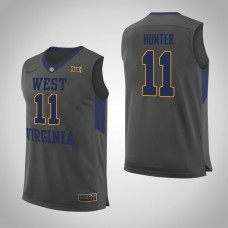 West Virginia Mountaineers #11 D'Angelo Hunter Gray College Basketball Jersey