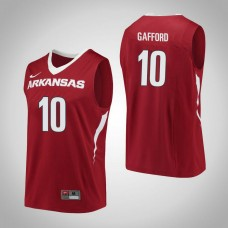 Arkansas Razorbacks #10 Daniel Gafford Red College Basketball Jersey