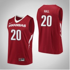 Arkansas Razorbacks #20 Darious Hall Red College Basketball Jersey