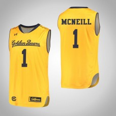 California Golden Bears #1 Darius McNeill Gold College Basketball Jersey
