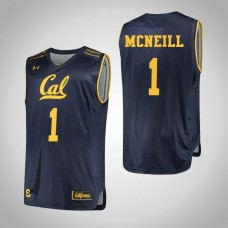 California Golden Bears #1 Darius McNeill Navy College Basketball Jersey