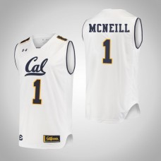 California Golden Bears #1 Darius McNeill White College Basketball Jersey