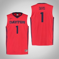 Dayton Flyers #1 Darrell Davis Red College Basketball Jersey