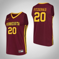 Minnesota Golden Gophers #20 Davonte Fitzgerald Maroon College Basketball Jersey