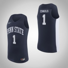 Penn State Nittany Lions #1 Deivis Zemgulis Navy College Basketball Jersey