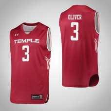 Temple Owls #3 Desiree Oliver Red College Basketball Jersey