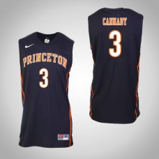 Princeton Tigers #3 Devin Cannady Black College Basketball Jersey