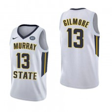Murray State Racers #13 Devin Gilmore White College Basketball Jersey
