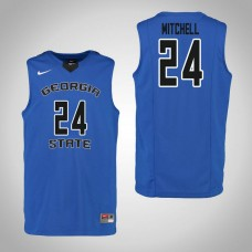 Georgia State Panthers #24 Devin Mitchell Blue College Basketball Jersey