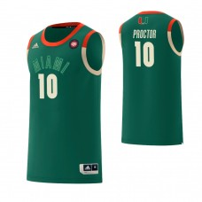 Miami Hurricanes #10 Dominic Proctor Harlem Renaissance Green Jersey