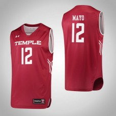 Temple Owls #12 Emani Mayo Red College Basketball Jersey