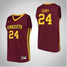 Minnesota Golden Gophers #24 Eric Curry Maroon College Basketball Jersey