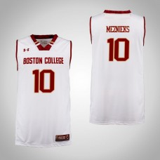 Boston College Eagles #10 Ervins Meznieks Cardinal College Basketball Jersey